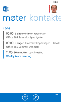 Lync Meeting in the WP8 client